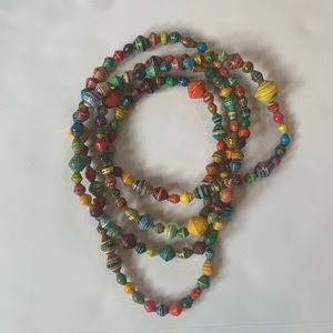 Noonday Collection giant paper bead necklace